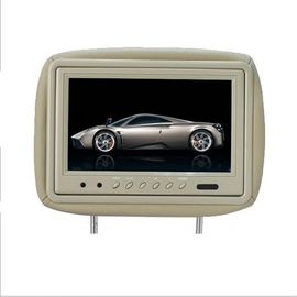 SD Advertising DVD Screens For Car Headrests , HD Headrest Monitor DC 12V