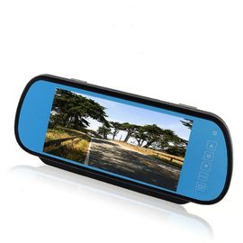 "Blue Glass 7 ""Tampilan Car Rear View Mirror Monitor Mendukung 2 Cara Input Video"