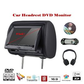 Cina Bantal TFT LED Mobil Headrest DVD Monitor Custom Made Bahasa Menu Remote Control pabrik