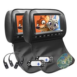 Kulit Headrest 1080P Headrest DVD Monitor DC 6V - 18V Power Supply